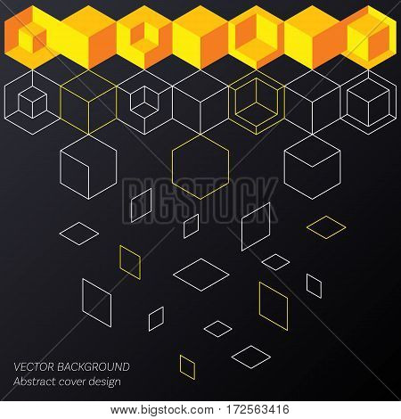 Abstract minimalistic flat cover design modern technology illustration