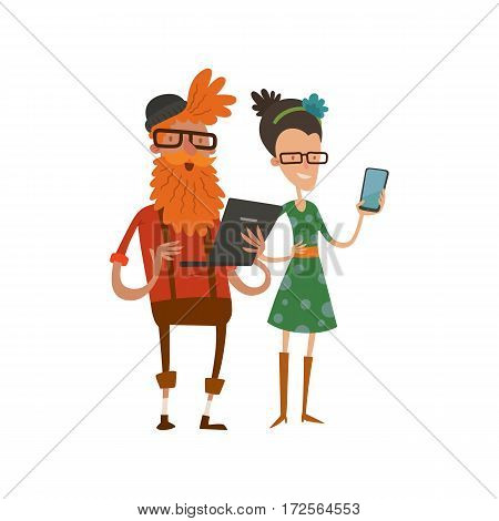creative team people hipster business group portrait website profilestudio designer art-director accounter boss leader command isolated character set collection vector illustration