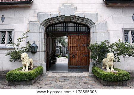 Campos do Jordao entrance gate castle Brazil