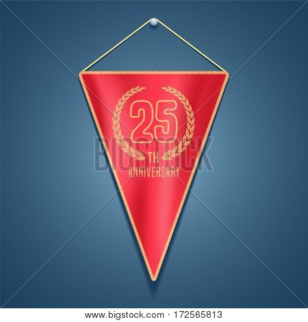 25 years anniversary vector icon, logo. Graphic design element for decoration for 25th anniversary card