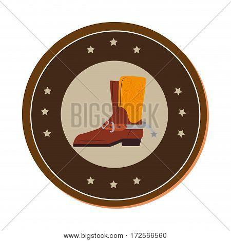 cowboy boots wild west vector illustration design