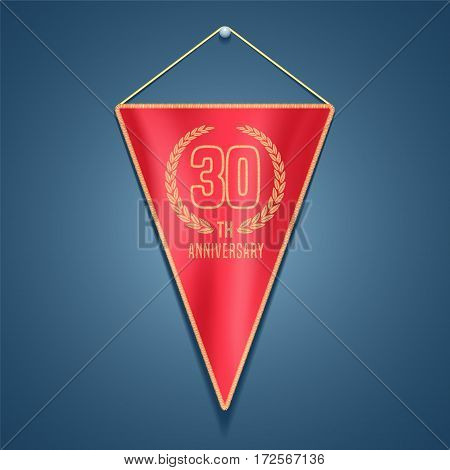 30 years anniversary vector icon, logo. Graphic design element for decoration for 30th anniversary card