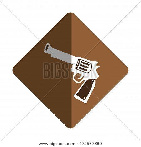 gun wild west icon vector illustration design
