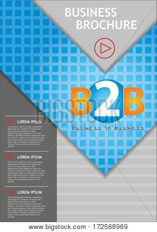 Abstract business report cover design vector template in A4 size. Document with copy text space.