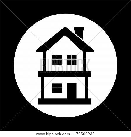 an images of Or pictogram Real estate house icon