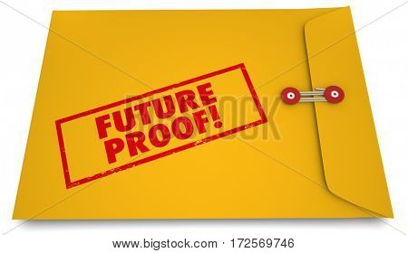 Future Proof Envelope Stamp Lasting Product Plans 3d Illustration