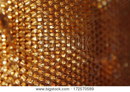 Empty wax honeycomb, macro. Natural abstract background