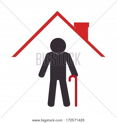 cute grandfather avatar character vector illustration design