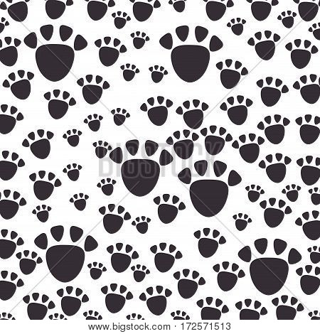 footprint mascot pattern background vector illustration design