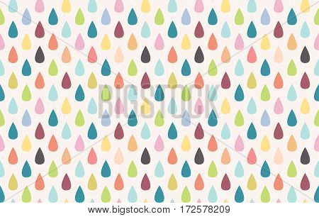 Seamless vector pattern. Colorful rain. Abstract background