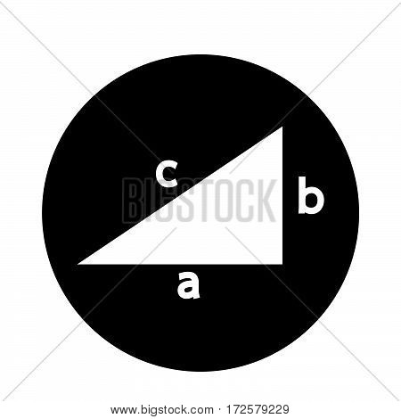 an images of Or pictogram Pythagoras theorem icon