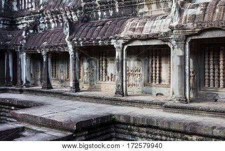 ancient ruins temple of Angkor Wat, Siem Reap, Cambodia