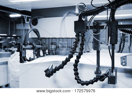 equipment for the printing industry in a printing house