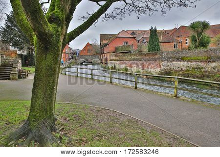 WINCHESTER, UK: Walk along the River Itchen leading to the City Mill