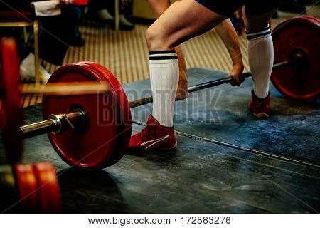 feet male athlete powerlifter deadlift competition powerlifting