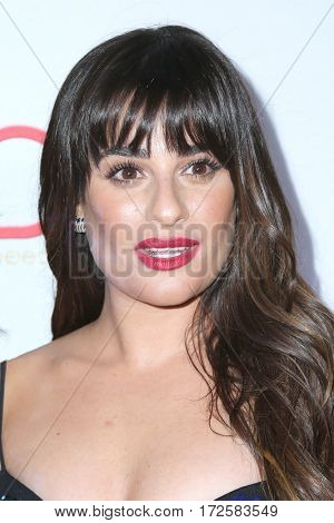 LOS ANGELES - FEB 19:  Lea Michele at the 2017 Hollywood Beauty Awards at the Avalon Hollywood on February 19, 2017 in Los Angeles, CA