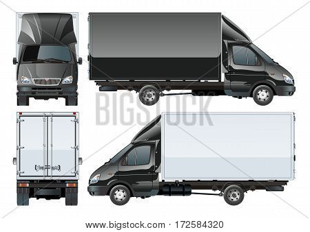 Delivery cargo truck. Available EPS-10 separated by groups and layers with transparecy effects for one-click repaint