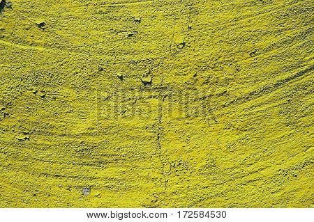 yellow  grunge cement background, colored stone surface