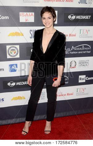 LOS ANGELES - FEB 19:  Sara Serraiocco at the Los Angeles Italia Film Festival at the TCL Chinese 6 Theaters on February 19, 2017 in Los Angeles, CA