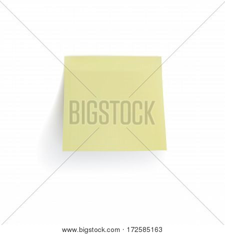 Realistic yellow sticker isolated on white background. Vector illustration.