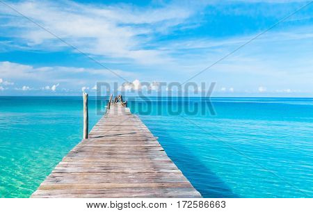 Jetty to the blue Path filled with Love