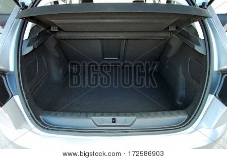 Empty trunk of the small passenger car