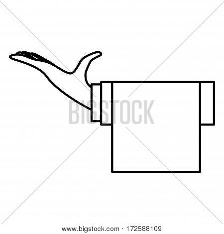 hand waiter isolated icon vector illustration design