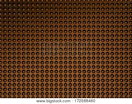 Abstract bronze 3d dotted background. 3d halftone. 3d illustration