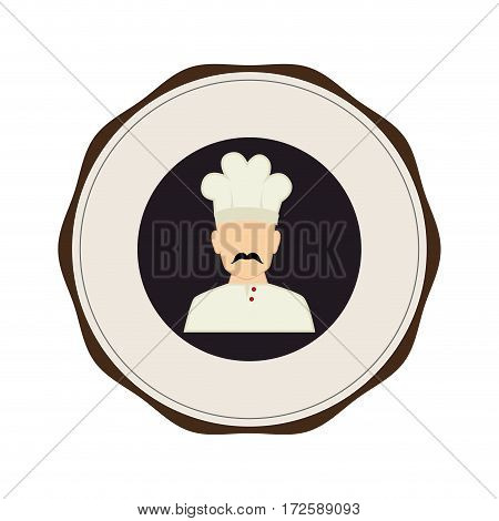 chef avatar isolated icon vector illustration design