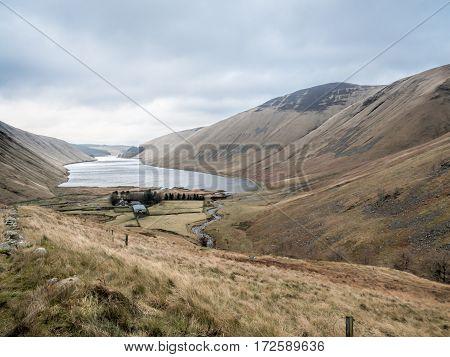 Panoramic view on Scottish landscape near Moffat, Scotland