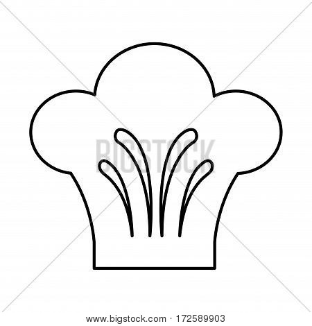 chef hat isolated icon vector illustration design