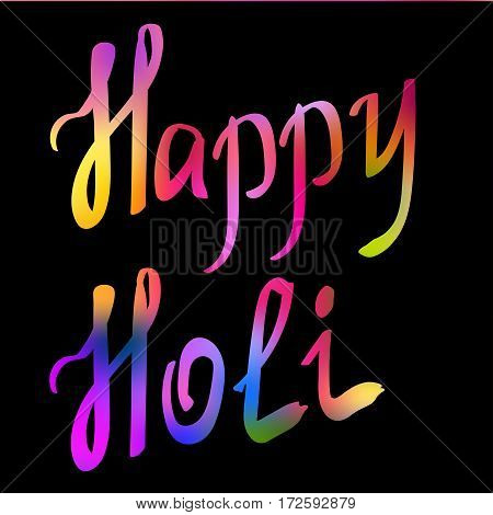 Traditional Holi background of India. Vector illustration