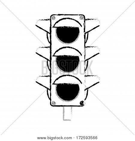 traffic light sign icon vector illustration design