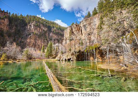 Fallen Trees In Hanging Lake, Colorado, Usa.