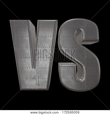 Versus Logo. VS Letters. 3D render on black. Competition Icon and fight Symbol.