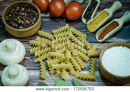 Still Life With Pasta Ingredients