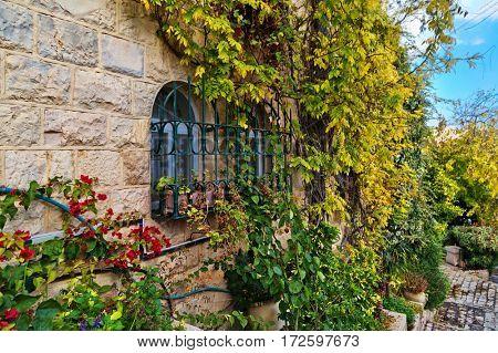 old house in Yemin Moshe district, Jerusalem, Israelin