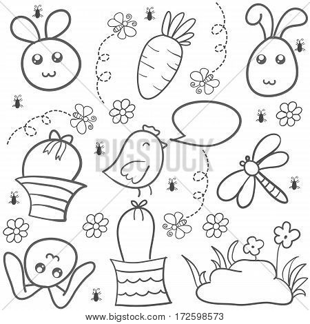 Doodle of easter egg style illustration vector collection