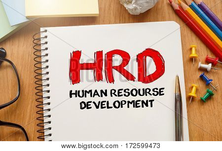 Notebook With Tools And Notes About Hrd, Concept