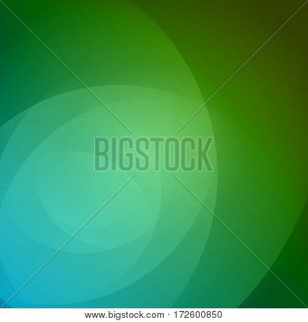 Smooth Light Blue Green Waves Lines Vector Abstract Bacground.