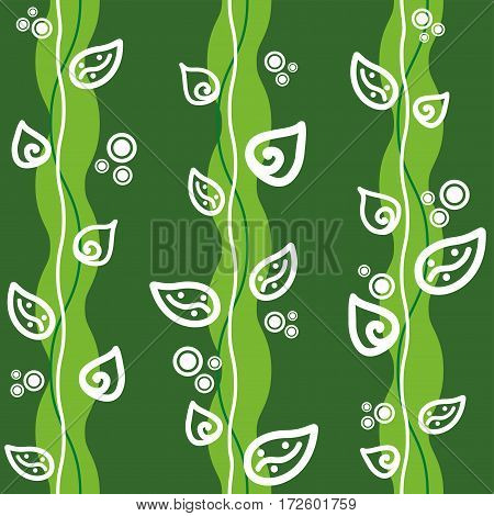 Seamless green background. Cartoon abstract pattern. Vector