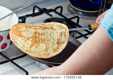 Cooking Pancakes On Shrove Tuesday