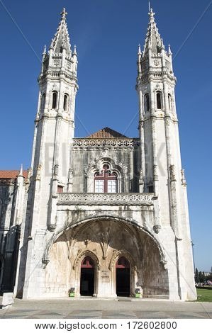 Monastery of the Jeronimos in Lisbon Portugal