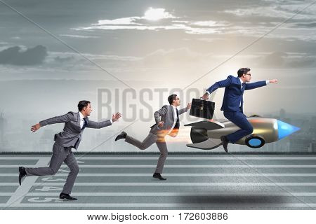 Competition concept with two businessmen