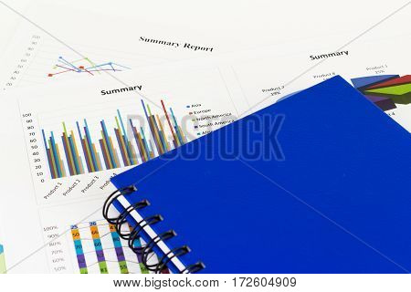Documents savings finances and analysis of the market concept