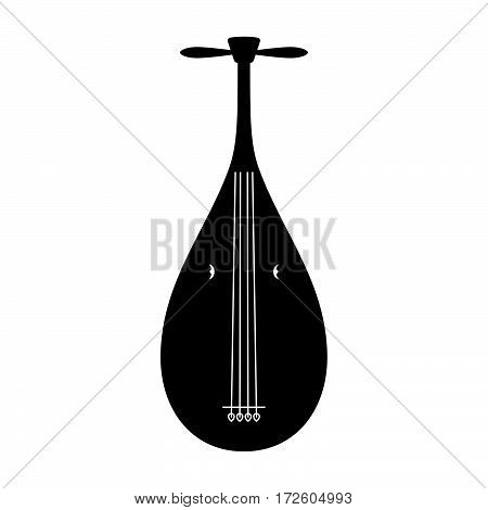 Lute kagetsu ( shade picture ) on white background