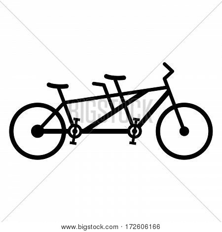 Tandem bicycle ( shade picture ) on white