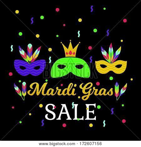 Mardi Gras Sale Poster