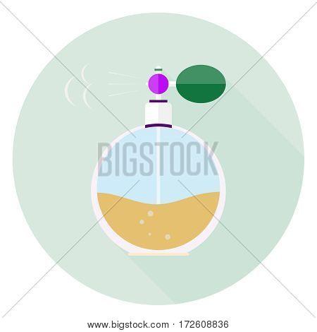 Retro perfume, retro icon perfume. Flat design, vector illustration vector