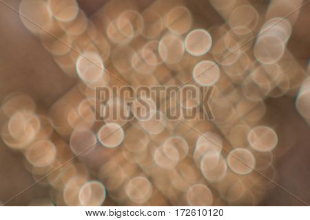 Color Abstract blurred background round shape bronze